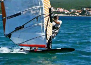 na tekmovanju windsurfing v Turanju